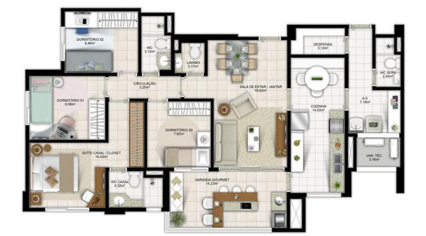 Apartamento Novo A Venda No Greenville Atmos 21