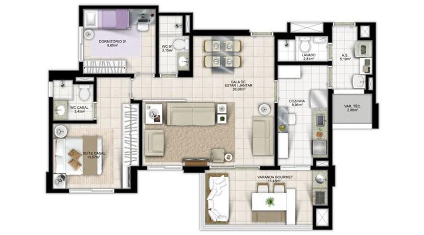 Apartamento Novo A Venda No Greenville Atmos 30