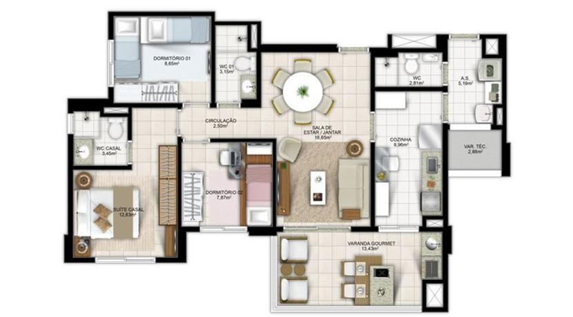 Apartamento Novo A Venda No Greenville Atmos 32