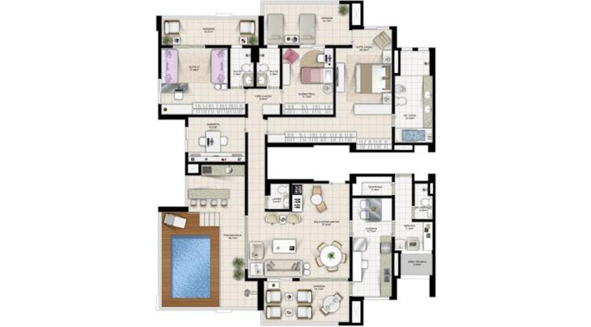 Apartamento Novo A Venda No Greenville Atmos 34