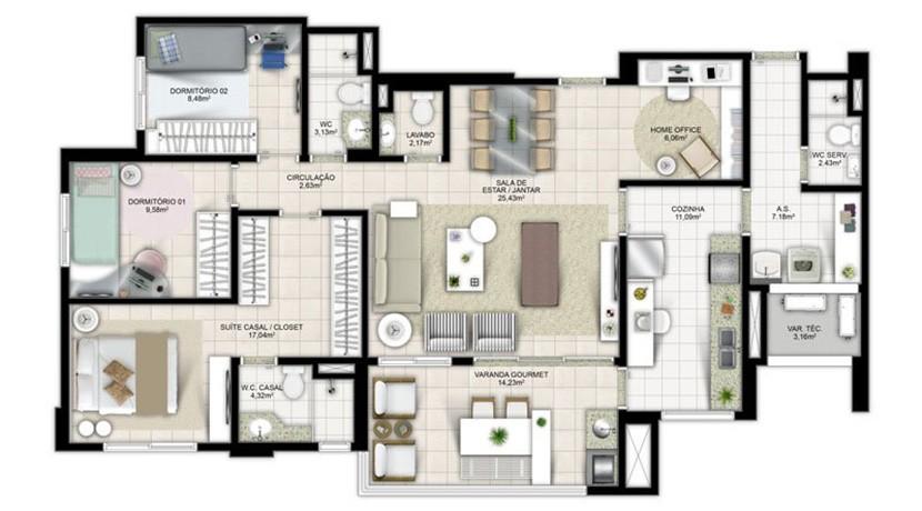 Apartamento Novo A Venda No Greenville Atmos 9