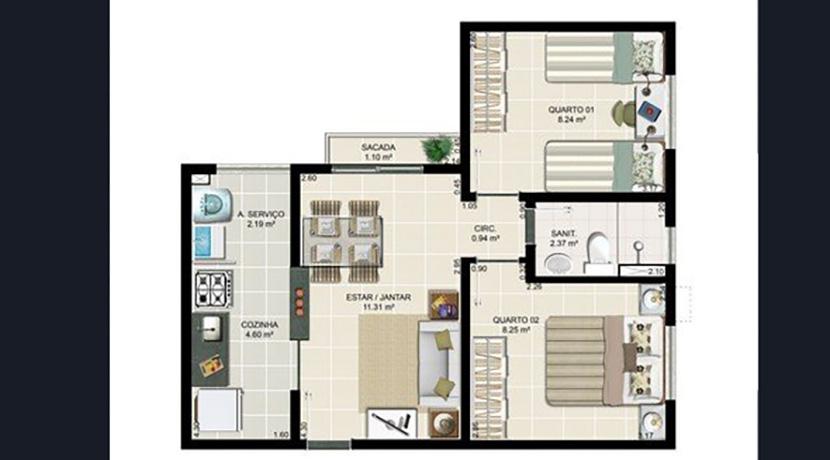 Apartamento Novo A Venda No Caji 8