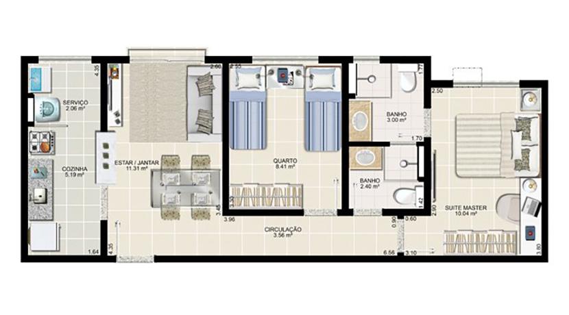 Apartamento novo à venda no Centro de Lauro-10