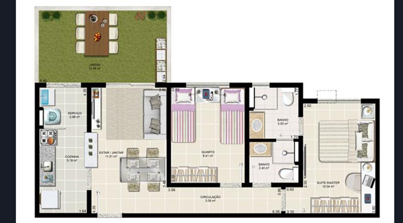 Apartamento novo à venda no Centro de Lauro-11