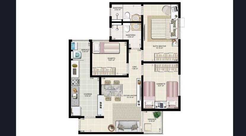 Apartamento novo à venda no Centro de Lauro-13