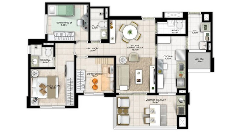 Apartamento Novo A Venda No Greenville Atmos 302