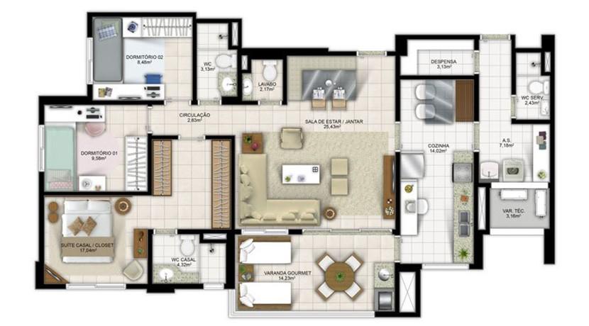 Apartamento Novo A Venda No Greenville Atmos 8