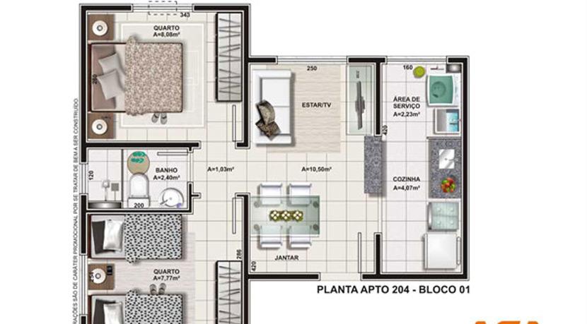 Apartamento novo e moderno à venda no Caji-5