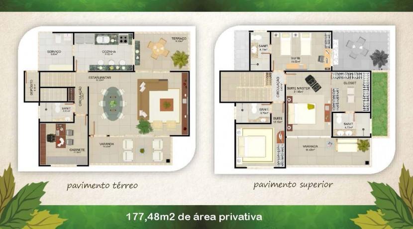 Casas de 4 suites à venda em Buraquinho-3